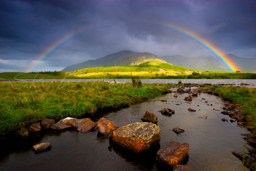 <strong>Title: </strong>Rainbow at Inagh<br /><strong>Filename:</strong>2006-08-13-Connemara-085-Edit-1<br /><strong>Image Reference Number: </strong>swl003p